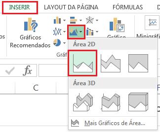 Inserir gráfico de área