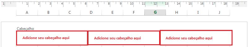 Adicionar Cabeçalho e rodapé no Excel