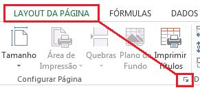 Configurar página no Excel