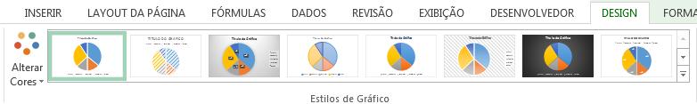 Alterar estilo gráfico de pizza no Excel