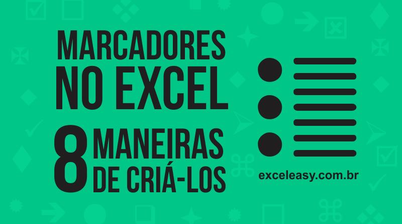 Inserir Marcadores no Excel - como criar