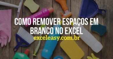 Como Remover espaços em branco no Excel