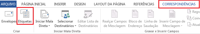 Mala direta - etiquetas no Excel