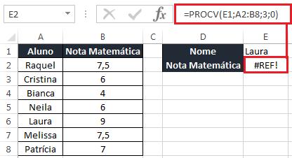 Função PROCV e CORRESP no Excel