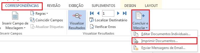 Imprimindo etiquetas Excel