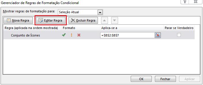 Excel Conjunto de ícones