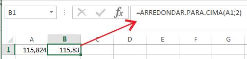 Como Arredondar para cima no Excel