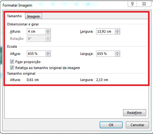 Redimensionar marca d'água no Excel