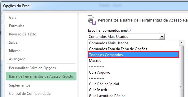 botão formulário no Excel