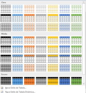 formato tabela excel