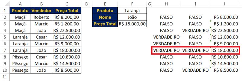 Explicação da função PROC com busca por dois critérios