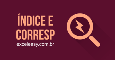 Função ÍNDICE E CORRESP NO EXCEL