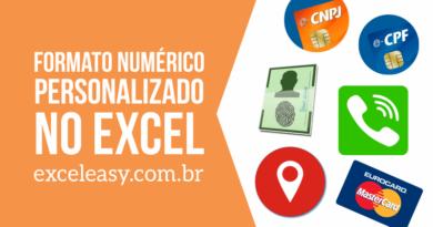 Formato CNPJ, CPF, RG no Excel