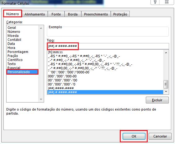 Formato de Telefone no Excel