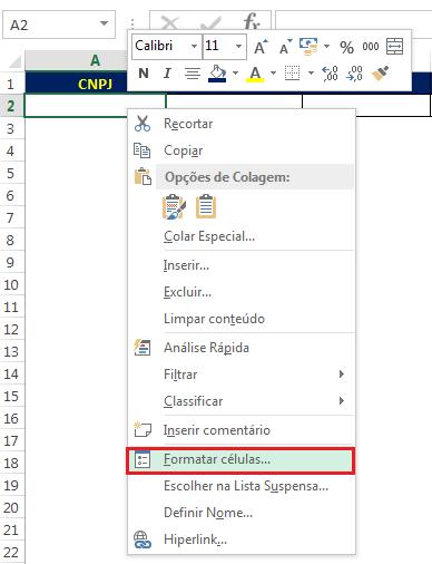 formato personalizado no Excel