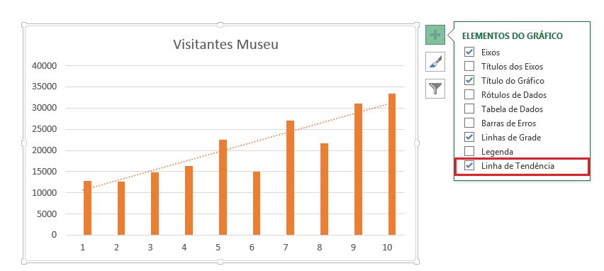 Adicionar Trendline Excel
