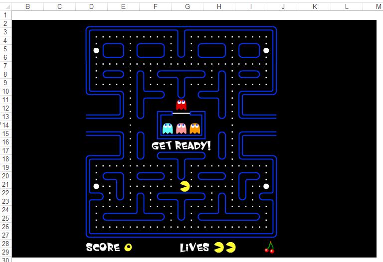 Jogar Pac-Man no Excel VBA