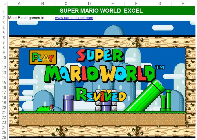 Jogar Super Mario no Excel