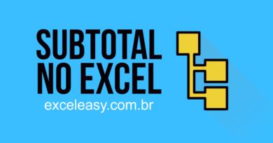 Como usar subtotal no Excel