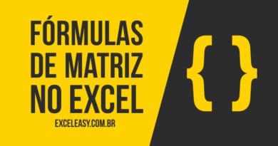 Como usar Fórmulas de Matriz no Excel