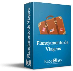 Planilha de planejamento de viagens no Excel