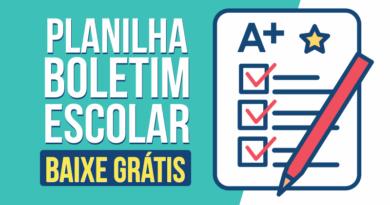 Planilha de Boletim Escolar no Excel para download