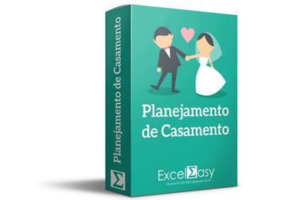 planejamento de casamento com o Excel