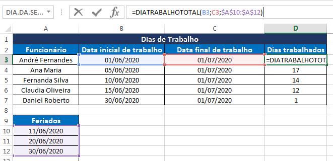 Como calcular dias úteis