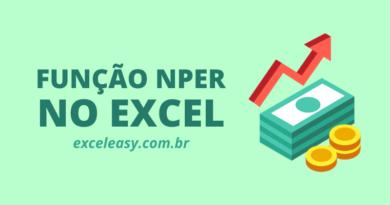Como usar a função NPER no Excel