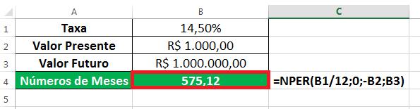 Como usar NPER no Excel