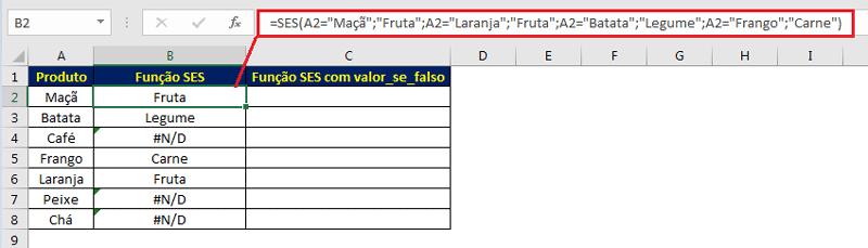 Função SES com valor_se_falso