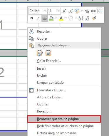 Como remover quebras de página no Excel