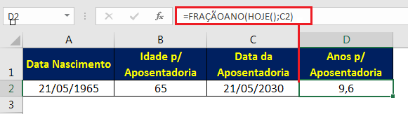 aposentadoria Excel