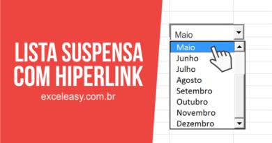 Lista Suspensa com Hiperlink no Excel – Como Criar?