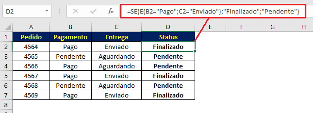 Verificando status de pedido