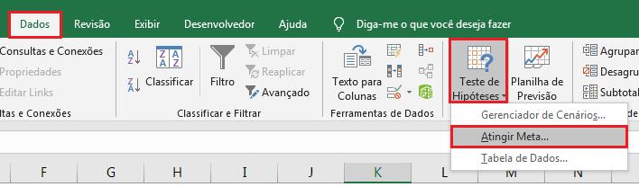 Teste de hipóteses no Excel