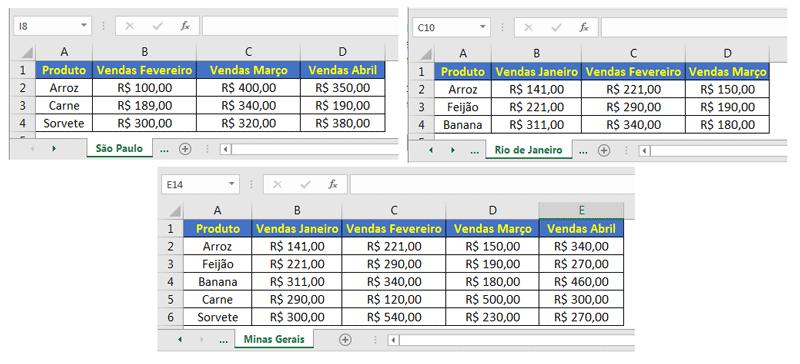 Consolidar no Excel