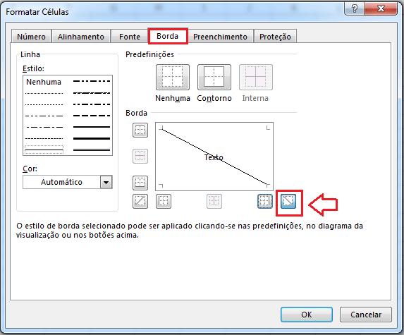 dividir uma célula no Excel