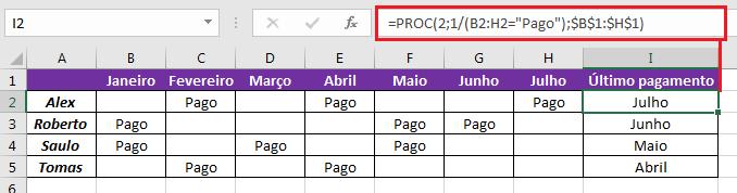 Como usar a função PROC