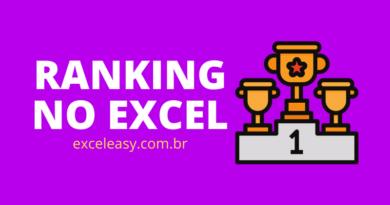 como fazer ranking no excel