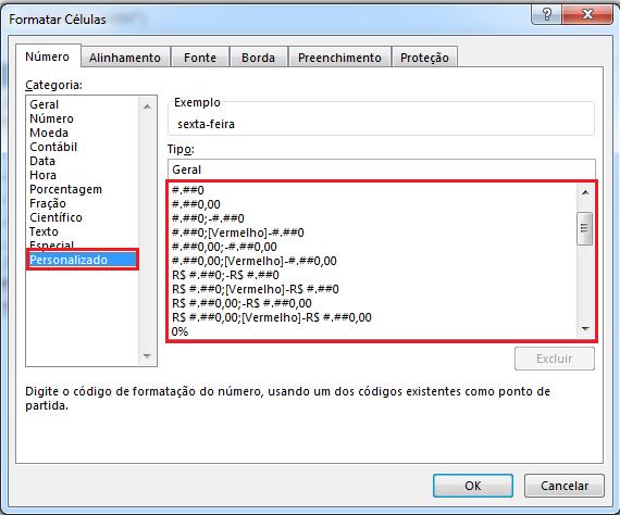 formatos personalizados no Excel