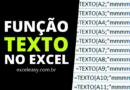 Como usar a Função Texto no Excel