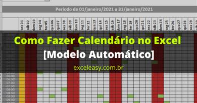 Como Fazer Calendário no Excel [Modelo Automático]