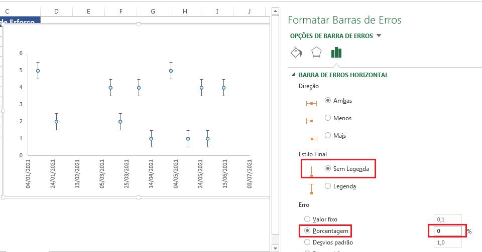 Opção de timeline no Excel