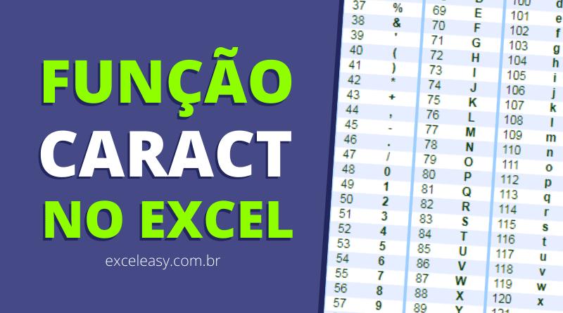 Como usar a Função CARACT no Excel
