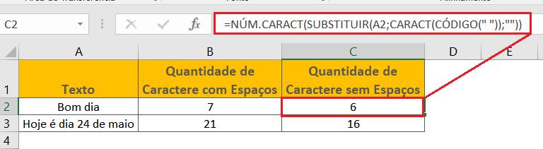 Função CARACT e NÚM.CARACT no Excel