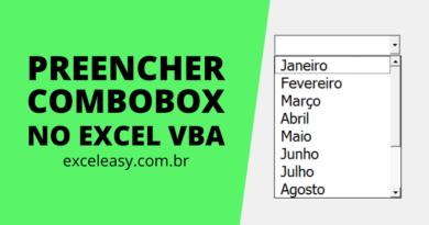 Como Preencher um Combobox no Excel